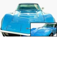"Corvette Stencil Kit, hood ""LT-1"" stripes (even width stripes)"