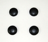 1984 - 1996 Rear Hatch Glass Black Powder Coated Outer Nut Cap Set