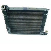 Corvette Radiator, brass/copper replacement (327 or 350 engine, manual transmission without air conditioning)