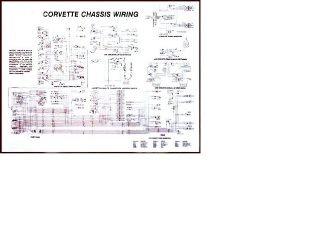 1981 corvette diagram  electrical wiring  corvetteparts com