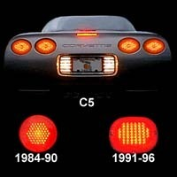 "1984 - 1990 ""Max Red"" LED Tail Lamp Set"