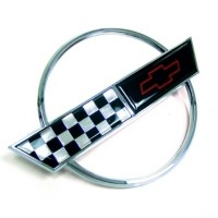 Corvette Gas Lid Door Emblem without Special Edition (Chrome Replacement)