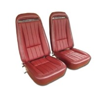 1975 Seat Cover Set, vinyl with comfortweave inserts as original for standard interiors
