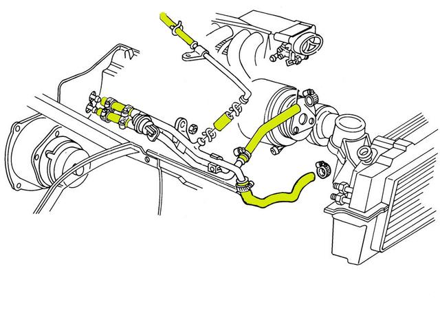 1987 corvette engine cooling system rubber hose set  coupe without kc4  v01   corvetteparts com