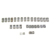 Corvette Clip Set, brake & fuel line - 25 piece