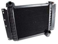 1960L - 1961E Radiator, brass/copper functional replacement (solid lifter 270 hp or fuel injection engines)