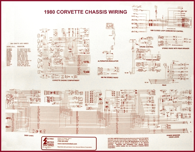 1980 Corvette Diagram  Electrical Wiring  Corvetteparts Com