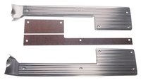 Corvette Sill Plate, pair inner door opening step with spacers