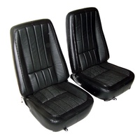 1968 Seat Cover Set, optional leather with basketweave inserts as original