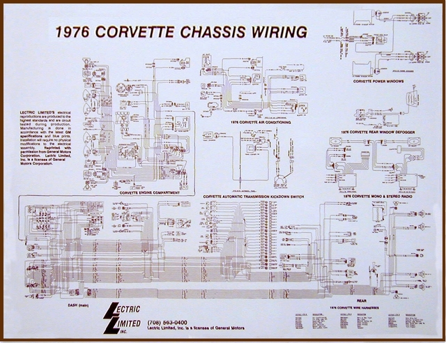 1976 corvette diagram  electrical wiring  corvetteparts com