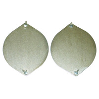 1961 - 1962 Plate, pair trunk floor access