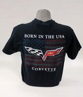 "Corvette Black ""Born in the USA"" T-Shirt"