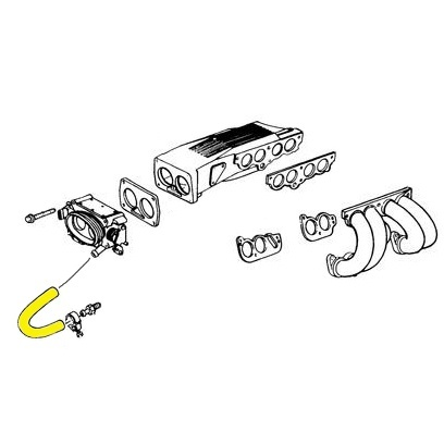 L98 with KC4 1990-1991 C4 Corvette Engine Cooling System Rubber Hose Set