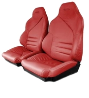"1996 Seat Cover Set with Attached Foam, original leather mounted to ""Your"" seatback structure [with Grand Sport Edition]"